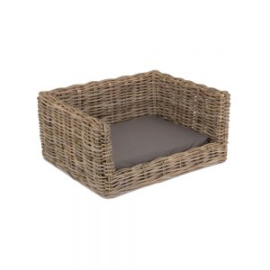 Luxury Rattan Dog Sofa Bed - Small