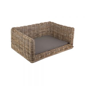 Luxury Rattan Dog Sofa Bed Medium