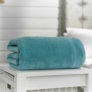 Snuggle Touch Throw Turquoise 140cm x 180cm