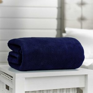 Snuggle Touch Throw Navy 140cm x 180cm