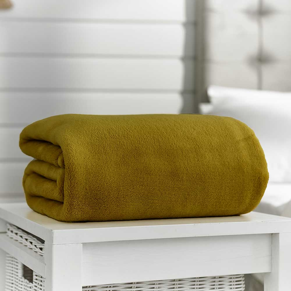 Snuggle Touch Throw Chartreuse 140cm x 180cm