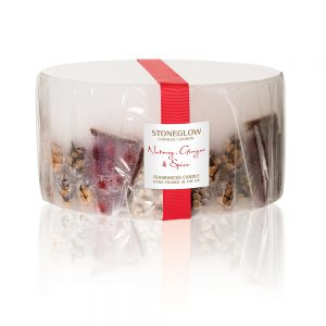 Stoneglow Nutmeg, Ginger & Spice 3 Wick Pillar Candle