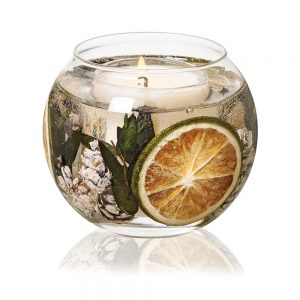 Stoneglow Eucalyptus & Lime Natural Wax Fishbowl Candle