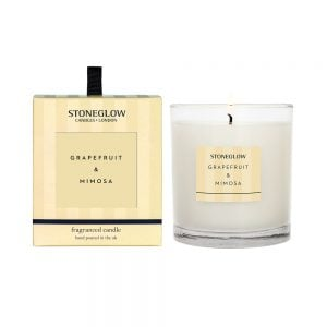 Stoneglow Grapefruit & Mimosa Fragranced Candle