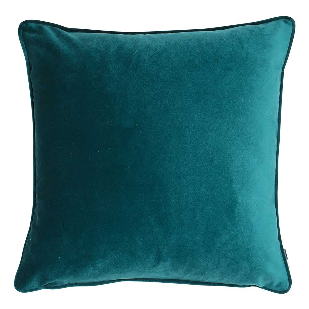 Luxe 50cm Velvet Piped Cushion Teal