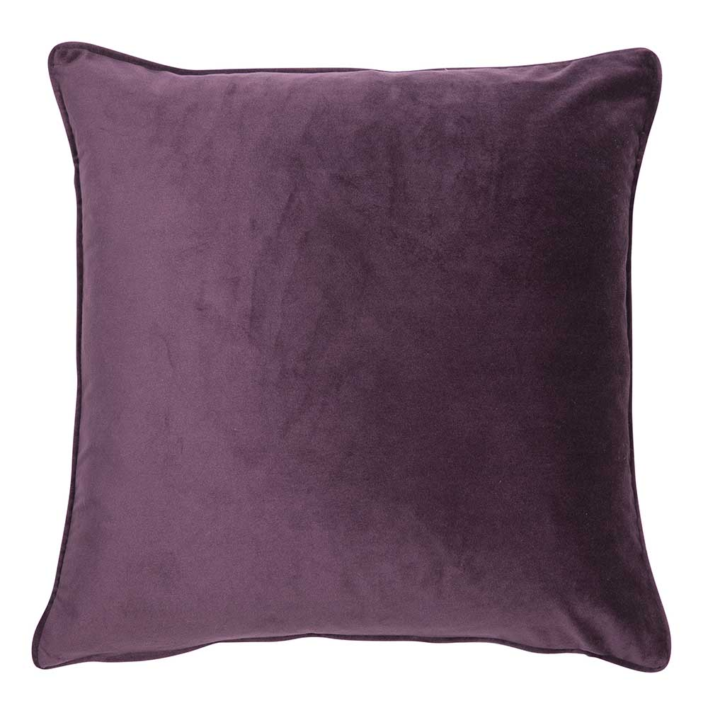 Luxe 43cm Velvet Piped Cushion Purple