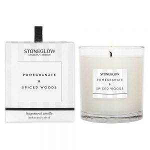 Stoneglow Pomegranate & Spiced Woods Fragranced Candle
