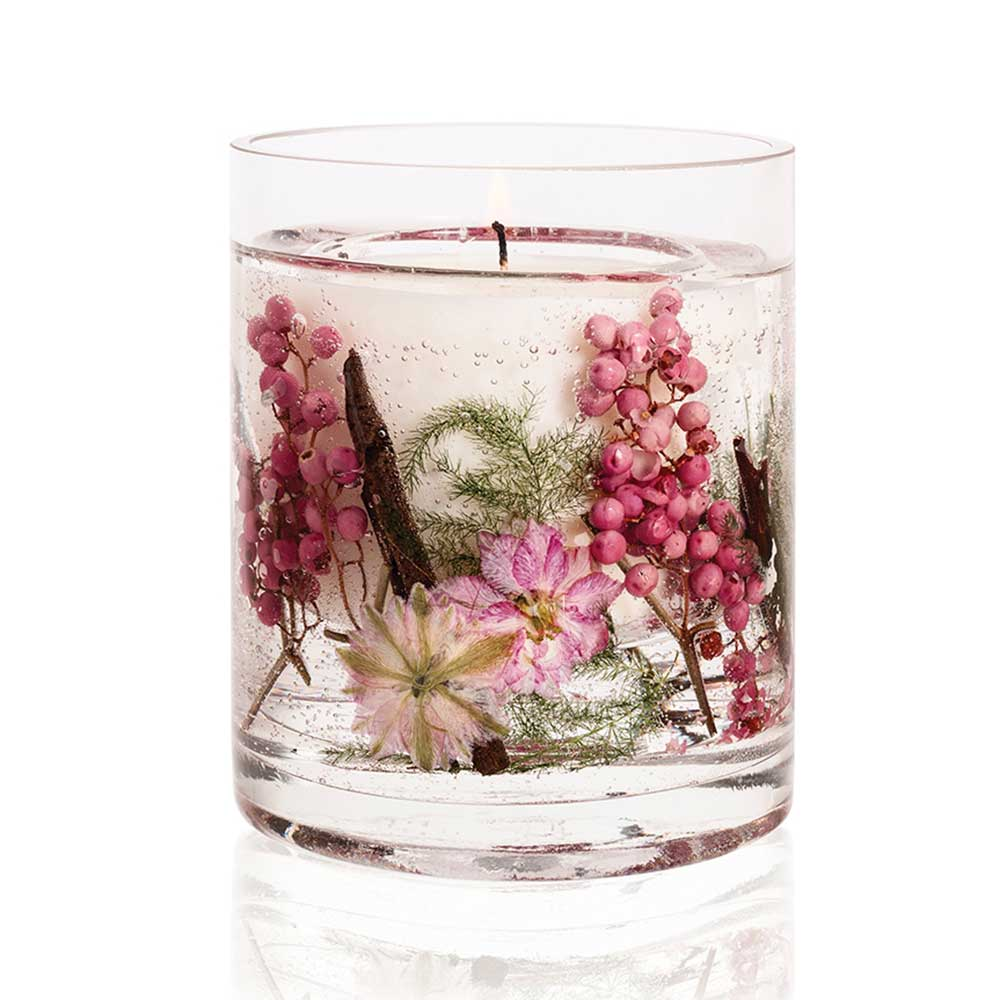Stoneglow Pink Pepper Flowers Natural Wax Gel Candle