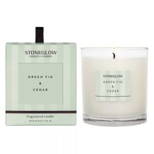 Stoneglow Green Fig & Cedar Fragranced Candle