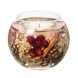 Stoneglow Nutmeg, Ginger & Spice Natural Wax Fishbowl Candle