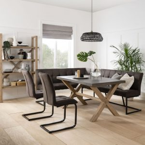 Darsham Dining Table, Bench & 2 Chairs