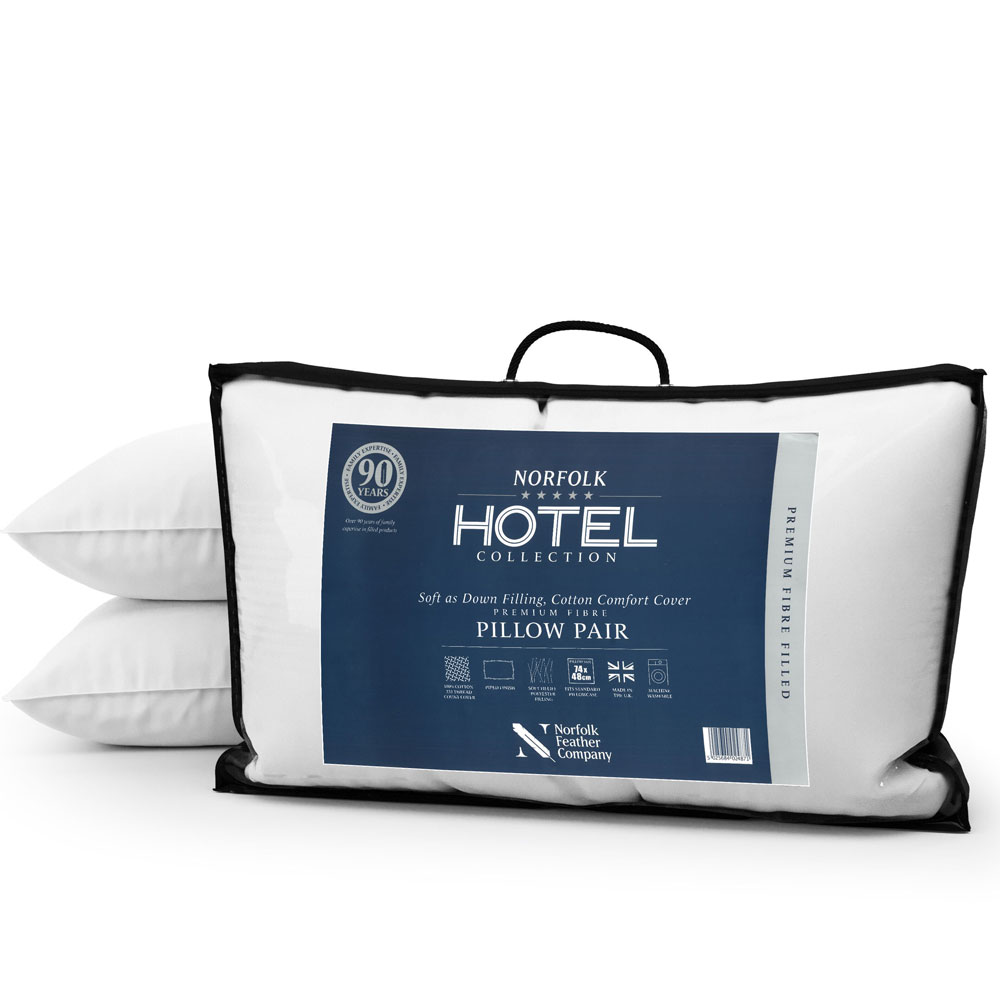 Hotel Premium Fibre Pillow Pair