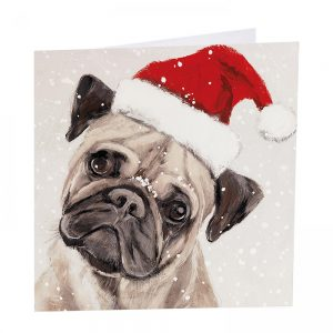 Bah Hum Pug Christmas Cards - Pack of 8