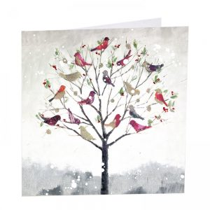 Jewel Tree Christmas Cards - Pack of 8