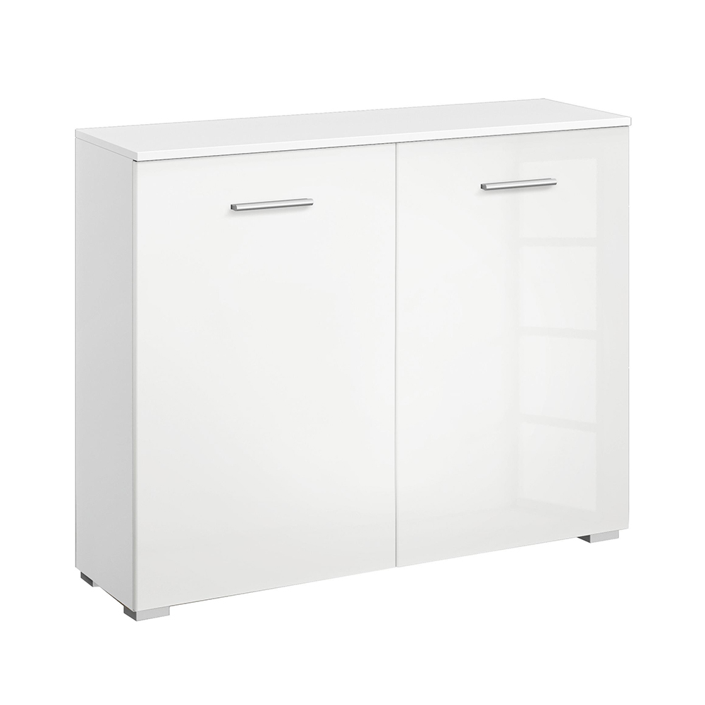 Laguna 2 Door Chest High Gloss White
