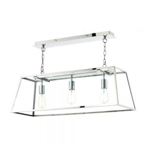 Dar Academy 3 Light Pendant Stainless Steel