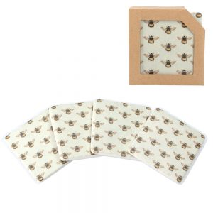 Bees Resin Coaster Pack of 4