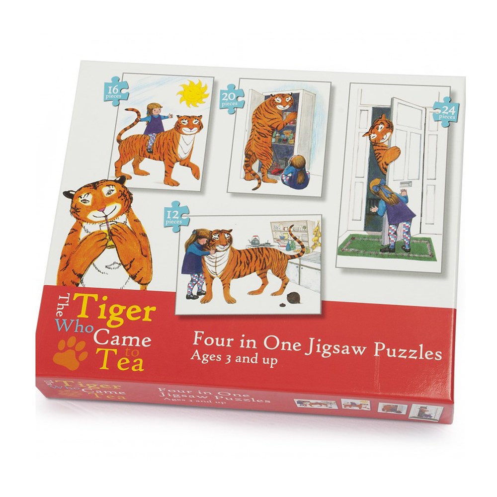 Tiger Who Came To Tea 4 in 1 Puzzle