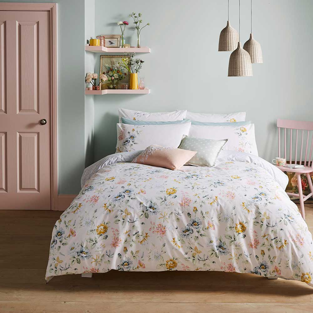 Cath Kidston Pembroke Rose Pillowcase Pair