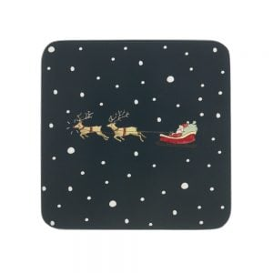 Sophie Allport Home For Christmas Coasters - Pack 4