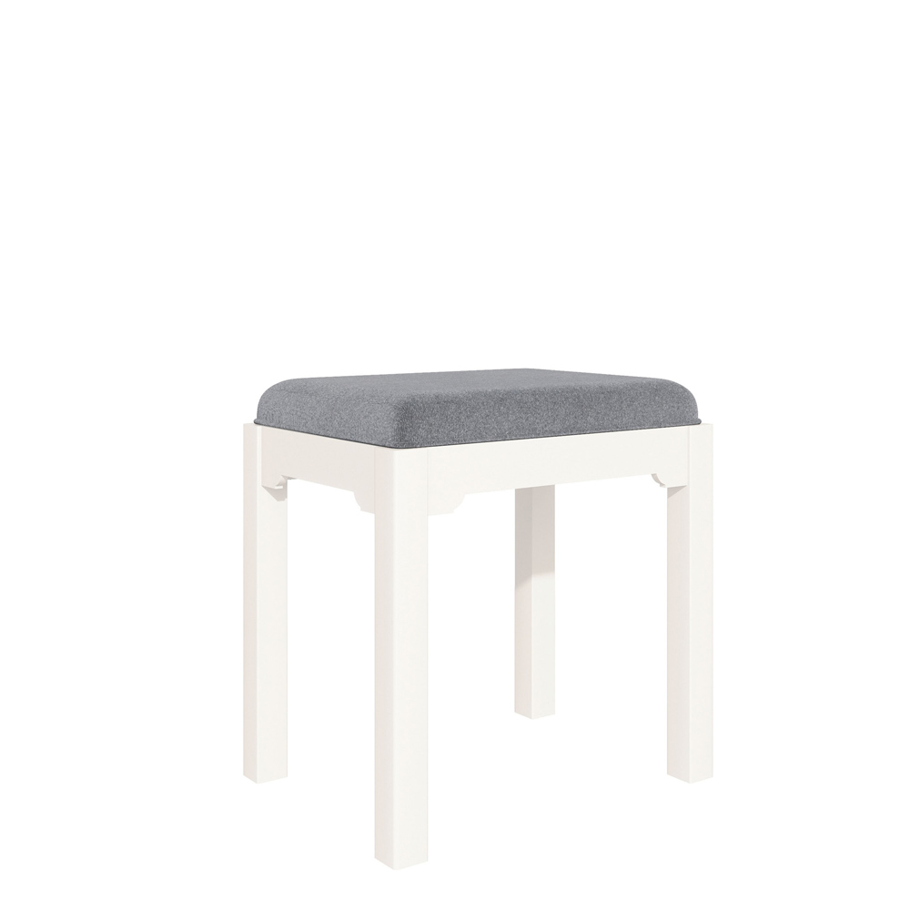 Bromley Dressing Table Stool White