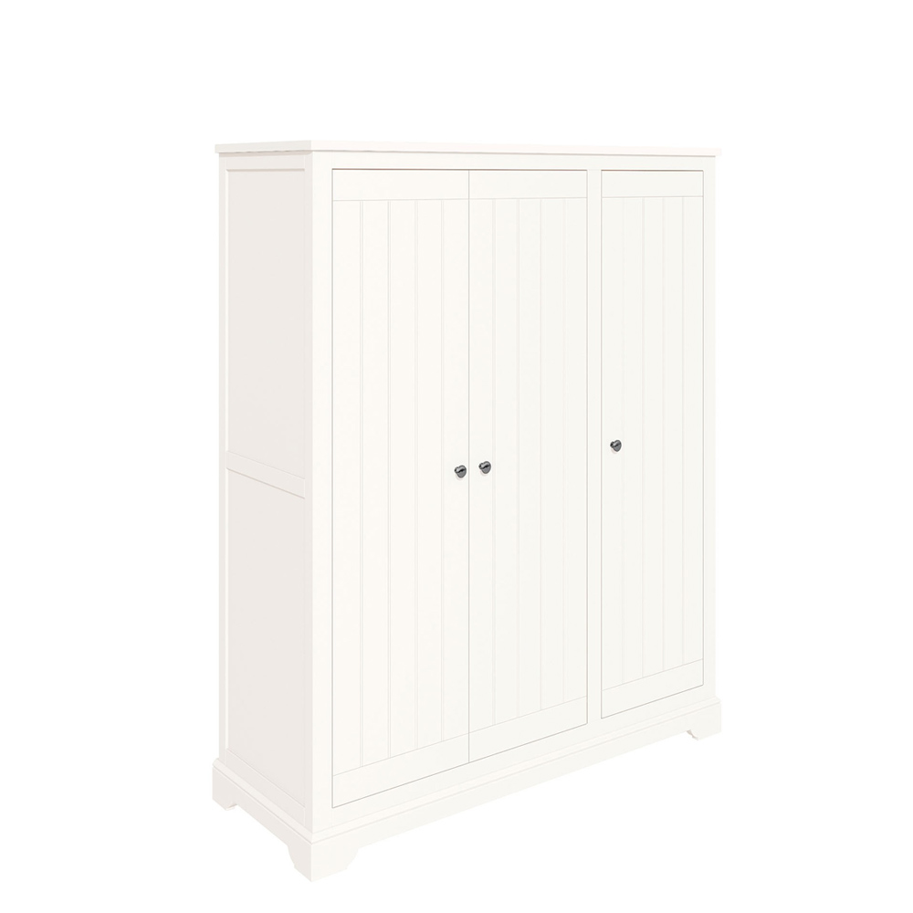 Bromley Triple Wardrobe White
