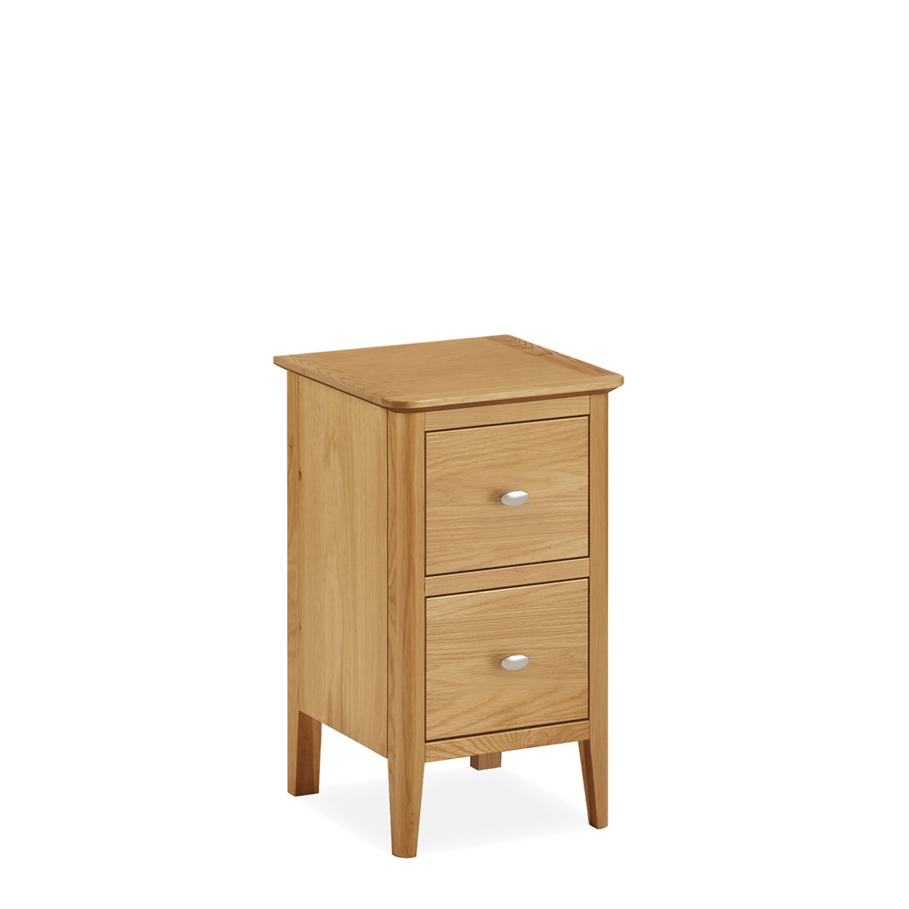 Avon Narrow 2 Drawer Bedside