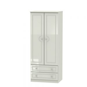 Boston 2 Drawer Wardrobe Kashmir Gloss