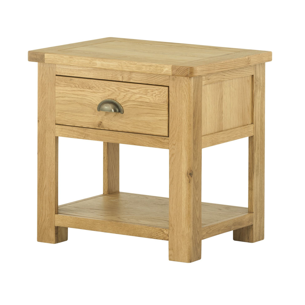 Pemberley Lamp Table With Drawer Oak