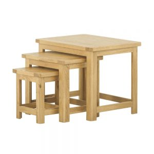 Pemberley Nest of Tables Oak