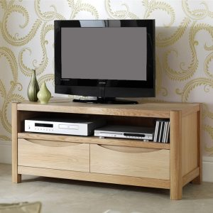 Dovedale TV Unit With 2 Drawers