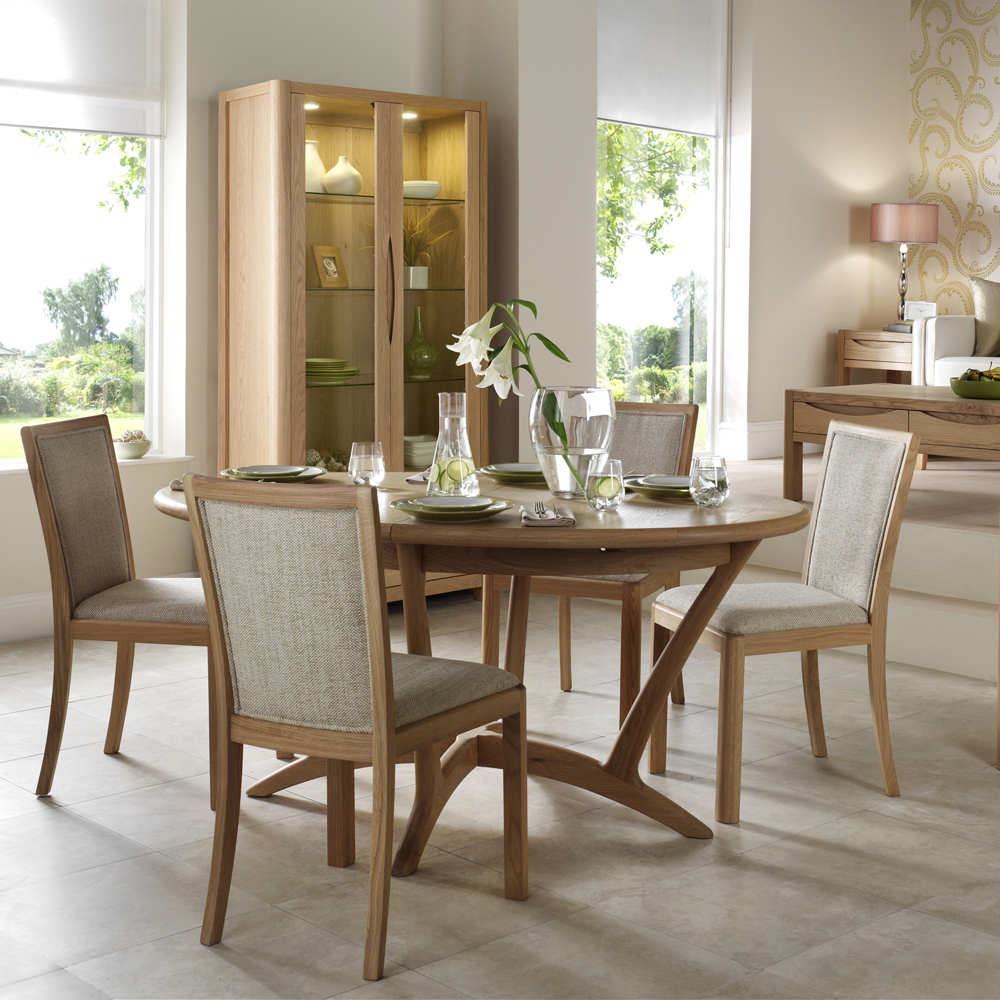 Dovedale Wooden Back Dining Chair Fabric