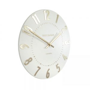 Mulberry Wall Clock Ivory Champagne 12""