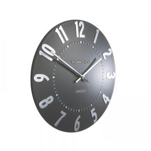 Mulberry Wall Clock Graphite Silver 12""