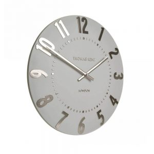 Thomas Kent Mulberry Wall Clock Silver Cloud 12""