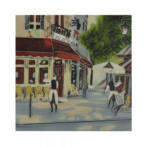 "Bistro Waiters Ceramic Tile 8"" x 8"""