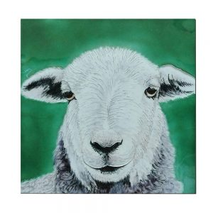 "Herdwick Sheep Ceramic Tile 8"" x 8"""