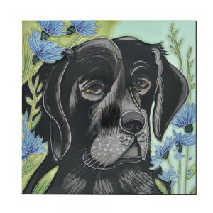 "Penny In Cornflowers Ceramic Tile 8"" x 8"""