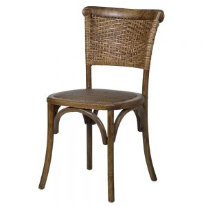 Sculthorpe Café Chair with Woven Back