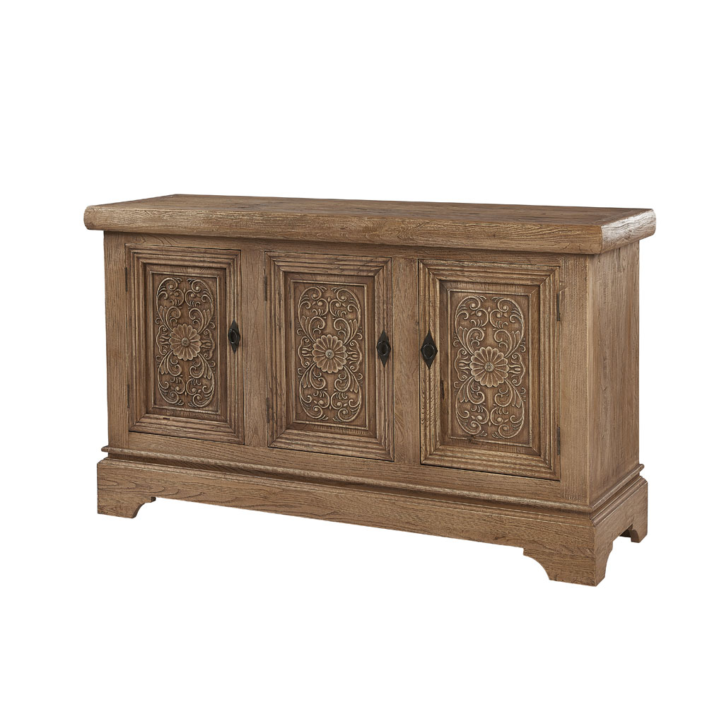 Sculthorpe Three Door Sideboard with Carved Doors