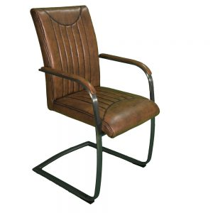Indiana Stitch Armchair Vintage Base Dining Chair