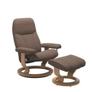 Stressless Consul Medium Chair Calido Light Brown - IN STOCK