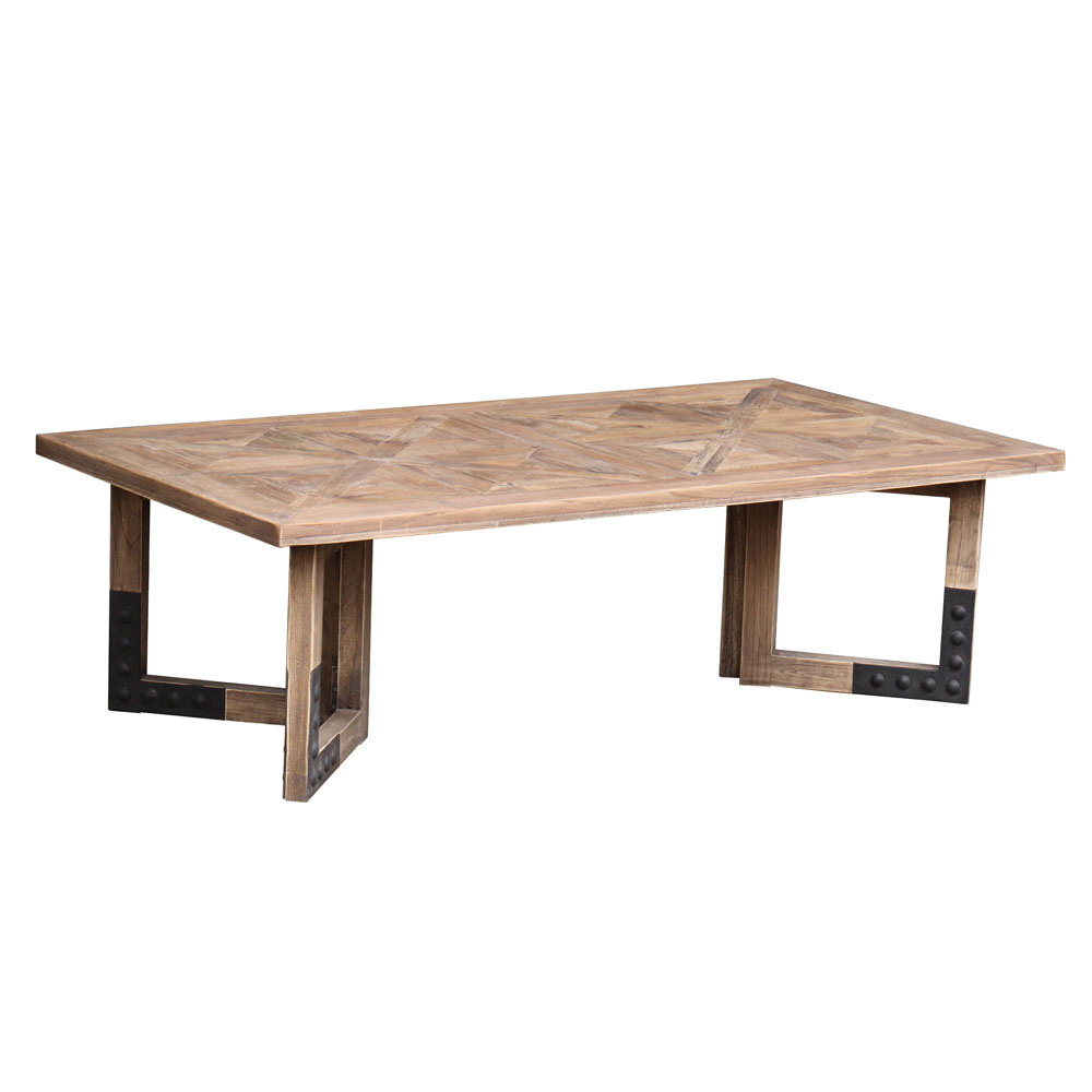 Sculthorpe Coffee Table Elm Parquet Top