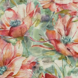 Dusky Blooms Russett Fabric
