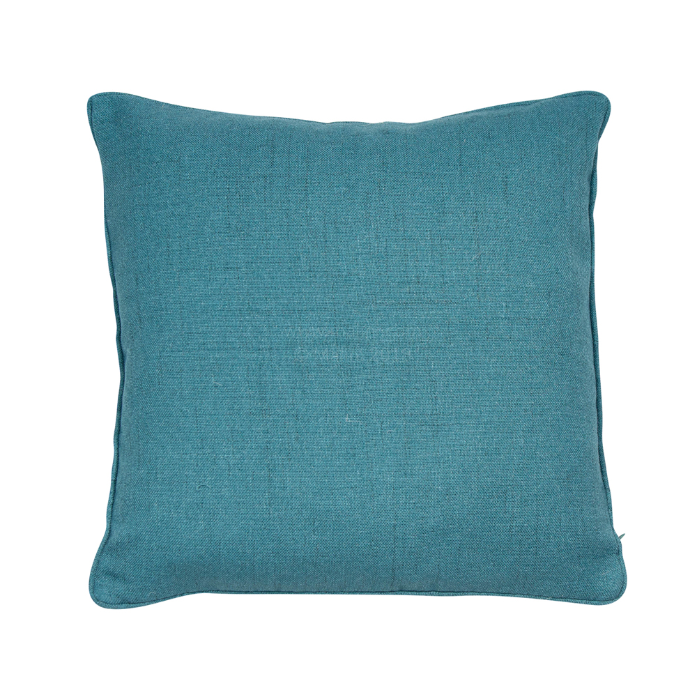 Monza 43cm Faux Linen Piped Cushion Teal