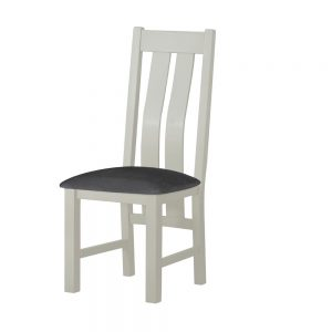 Pemberley Dining Chair Stone With Charcoal Seat