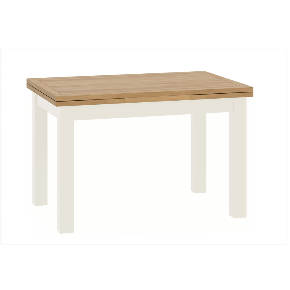 Pemberley Draw Leaf Dining Table White