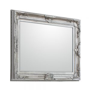Harrow Rectangle Mirror Antique Silver