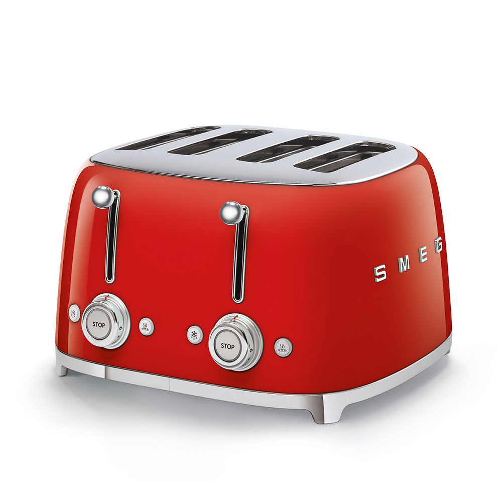 Smeg 50's Style Retro 4 Slice Toaster Red