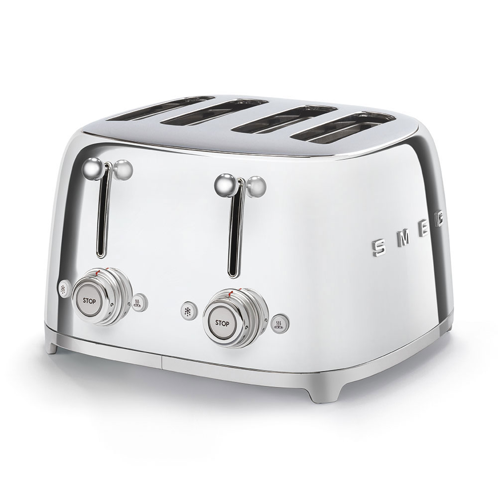 Smeg 50's Style Retro 4 Slice Toaster Chrome